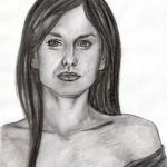 Weibliches Gesicht frontal