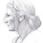 Weibliches Gesicht im Profil