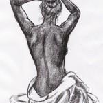 Weibliche Rückenansicht