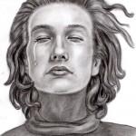 Männliches Gesicht frontal