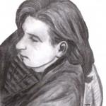 Männliches Gesicht im Profil