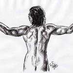 Männliche Rückenansicht