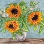 Sonnenblumenstrauß mit Freesien
