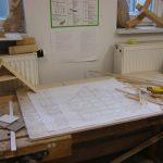 Arbeitsplatz in der Dessauer Hochschul-Holzwerkstatt