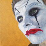 Mann mit Clownsbemalung