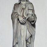 Heilige Elisabeth von Thüringen in der Elisabethkapelle des Naumburger Doms