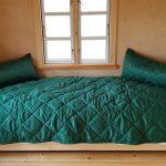Jacquard-Bettkissen und -Bettbezug