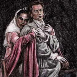 Tosca: Floria Tosca und Mario Cavaradossi (unbekannt und Roberto Alagna)