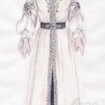 Die Zauberflöte: Kostüm der Pamina