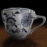 Kaffeetasse 'Zwiebelmuster' (Blue Danube)
