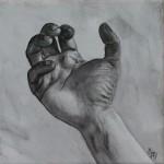 Angespannte Hand