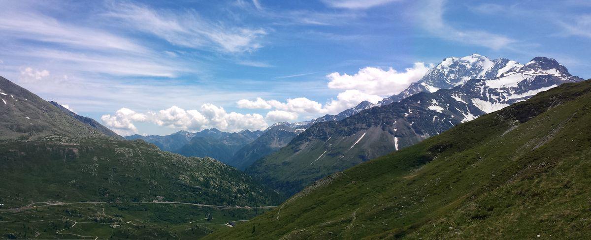 Bergpanorama auf der Simplon-Alp
