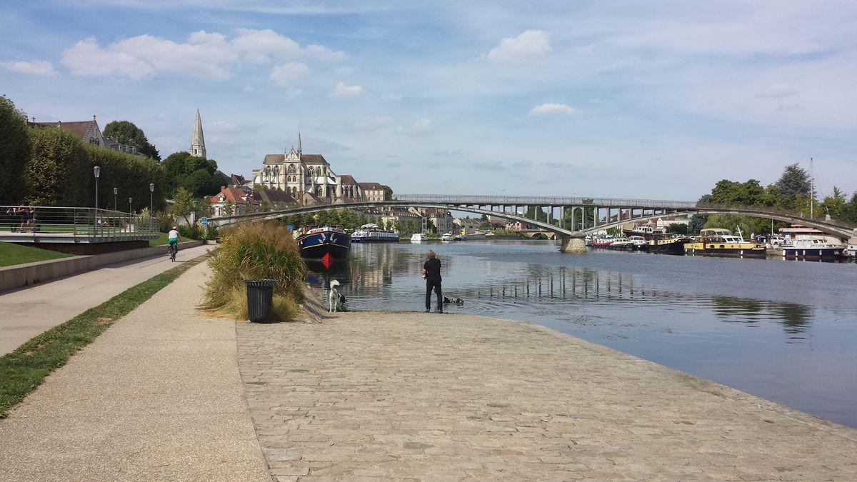 Fotoshooting am Ufer der Yonne