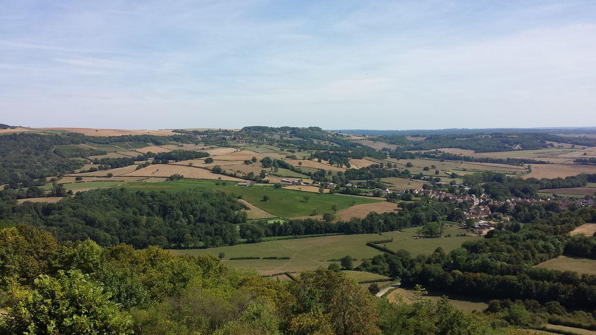 Landschaft um Vézelay