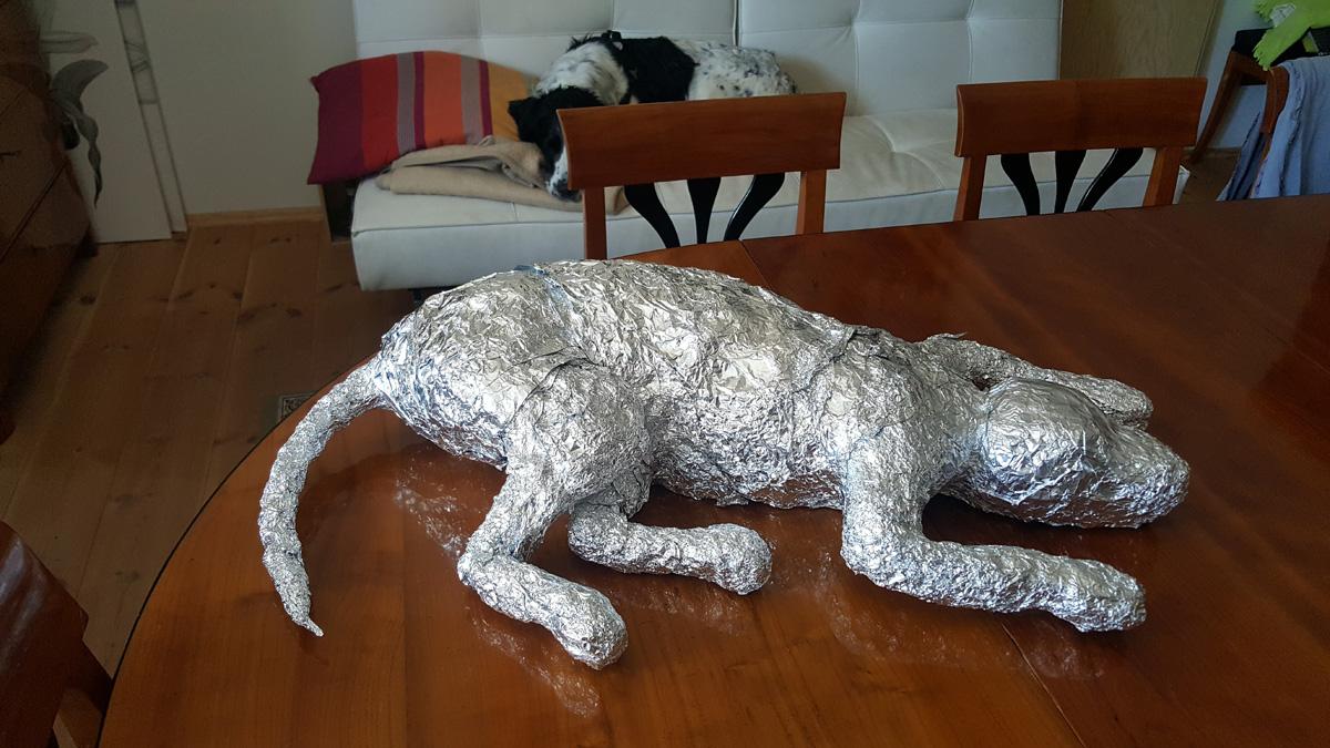Innenleben aus gewickelter Aluminiumfolie