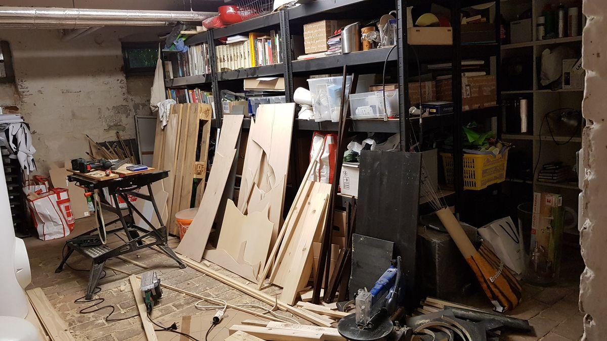 Aus dem Müllkeller soll ein Werkraum werden